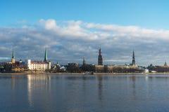 Riga, capitale della Lettonia Fotografie Stock