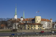 Riga Castle Royalty Free Stock Photography