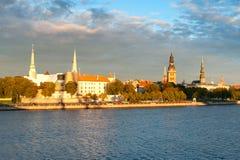 Riga Castle and Daugava river Royalty Free Stock Photography