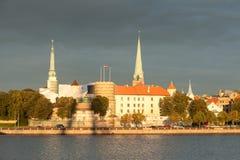 Riga Castle and the Daugava river Stock Image