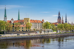 Riga castle and old town Stock Photography