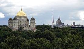 Riga, catedral de Cristo y otra Imagenes de archivo