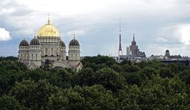 Riga, cathédrale du Christ et autre images stock