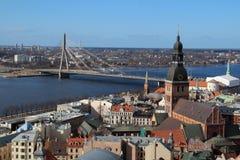 Riga Cathedral, Riga Castle and Daugava River, Latvia Royalty Free Stock Photos