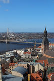 Riga Cathedral, Riga Castle and Daugava River, Latvia Royalty Free Stock Image