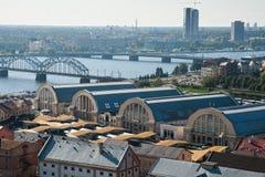 Riga, central market Stock Image