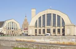 Riga central marknad (Lettland) arkivfoto