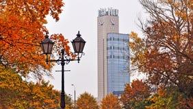 Riga central station clock Stock Photography