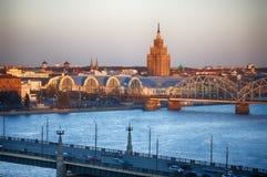 Riga centrale Fotografia Stock