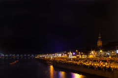 Riga citizens waiting for New Years firework Royalty Free Stock Photography
