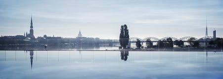 Riga city stock image