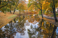 Riga city, central park in autumn Royalty Free Stock Photography