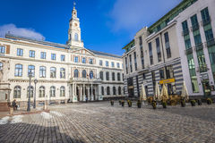 Riga City Council, located in the historic center of Riga at Tow Stock Photos