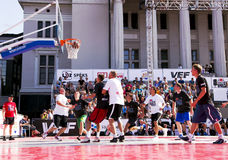 The Riga City Festival baskeball match in the old city of center Royalty Free Stock Photos