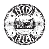 Riga city grunge rubber stamp Royalty Free Stock Photos