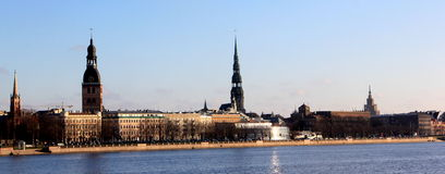 Riga city panorama Royalty Free Stock Images