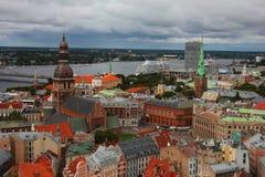 Riga city from the sky. Photo of Riga city from the sky Stock Photo