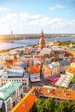 Riga cityscape view royalty free stock photos
