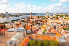 Riga cityscape view stock image