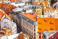 Riga cityscape view royalty free stock photography