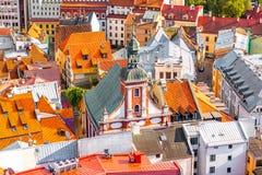 Riga cityscape view stock photography