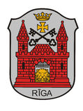 Riga coat of arms Stock Photos