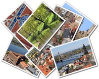Riga Collage. Collage of photos of Riga Latvia isolated on the white background Royalty Free Stock Photo
