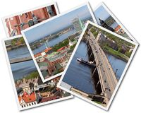 Riga Collage. Collage of photos of Riga Latvia isolated on the white background Stock Photo