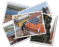 Riga Collage. Collage of photos of Riga Latvia isolated on the white background Stock Photography