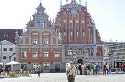 Riga 22 de agosto de 2014 - casa de la espinilla de Riga en Letonia Foto de archivo libre de regalías