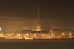 Riga, de de winterstad Stock Foto's