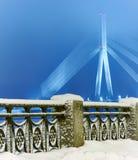 Riga in de winter Stock Afbeeldingen