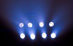 Riga degli indicatori luminosi della fase Fotografie Stock Libere da Diritti