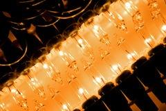 Riga degli indicatori luminosi di natale Fotografia Stock Libera da Diritti