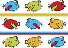 Riga degli uccellini Fotografia Stock Libera da Diritti