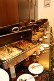 Riga del buffet dell'hotel Fotografia Stock Libera da Diritti