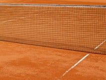 Riga del campo da tennis con rete (68) Fotografie Stock Libere da Diritti