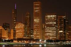 Riga del cielo della città del Chicago Fotografie Stock Libere da Diritti