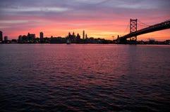 Riga del cielo di PA di Philadelphia Immagini Stock