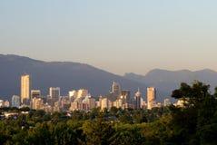 Riga del cielo di Vancouver Fotografia Stock