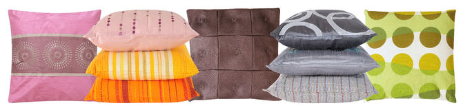 Riga del cuscino immagini stock libere da diritti