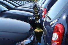 Riga del parco dell'automobile Immagini Stock Libere da Diritti
