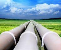 Riga del tubo di gas Fotografie Stock