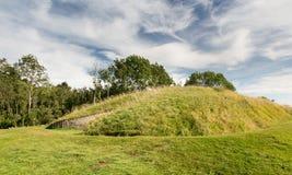 Riga della barra del pelo di Belas sulla collina Cotswolds di Cleeve Fotografie Stock