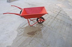 Riga della barra di rotella concreta immagini stock