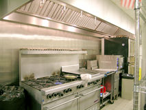 Riga della cucina, industriale Immagine Stock