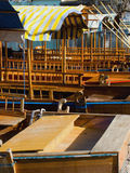 Riga delle barche di rematura Immagine Stock