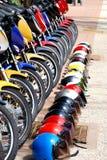 Riga delle bici Fotografie Stock