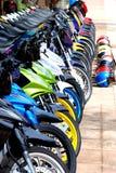 Riga delle bici Fotografia Stock Libera da Diritti