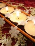 Riga delle candele Fotografie Stock Libere da Diritti